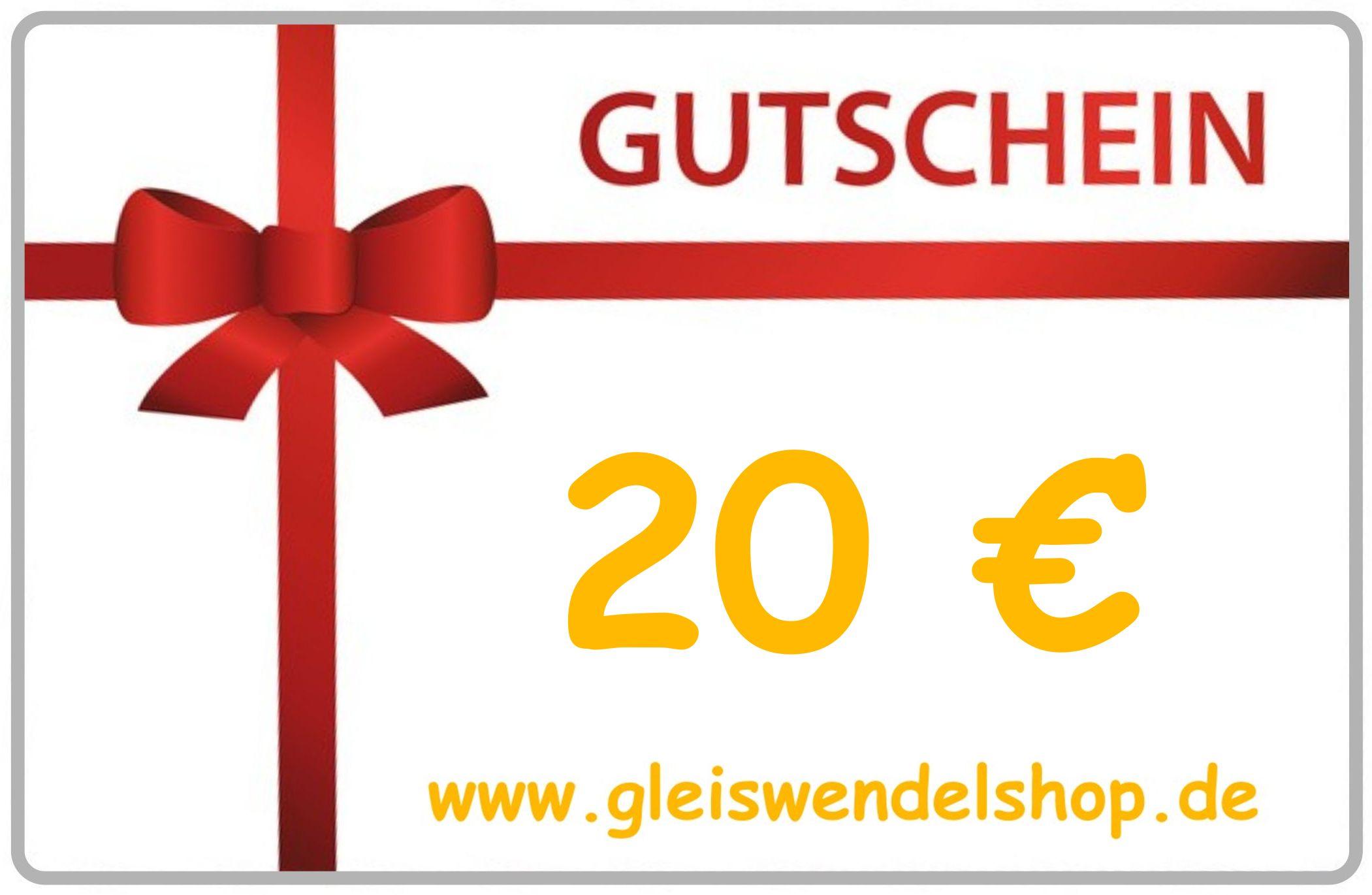 www.gleiswendelshop.de - Gutschein 20 €